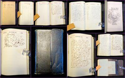 PA & NY, 1866. General wear. Pocket folded on back is missing front flap. Minor edge wear. . diaries...