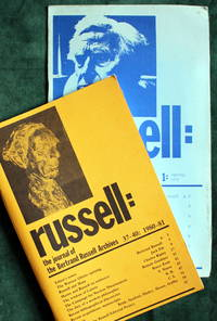 russell: the Journal of the Bertrand Russell Archives; issues 1 to 40, 1971-1981