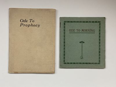 Privately Printed by the Author, 1913. 12mo. Beige and light blue wrappers, the latter with decorate...
