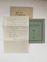 [Violet Oakley Interest- Two Booklets and ALS] Ode to Prophesy [together with] Ode Morning