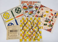 """""""Children's Handkerchief Game Compendium"""".  Four textile game boards and instruction booklet"""