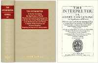 The Interpreter: Or Booke Containing the Signification of Words..
