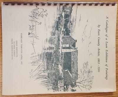 Salem, MA: Essex Institute, 1971. Spiral bound. VG. Spiral bound tan wraps with green illustration a...