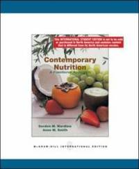 Contemporary Nutrition: a Functional Group Approach
