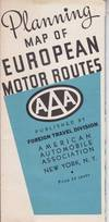Planning Map of European Motor Routes
