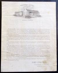 Autograph Letter Signed on  Strother's Hotel Illustrated Lettersheet,