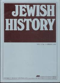 Jewish History, vol. 9, No. 1, 1995