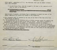 """Contract signed (""""J.D. Salinger""""), granting Spanish-language publishing rights for The Catcher in the Rye to Mundo Actual de Ediciones S.A. (Barcelona)"""