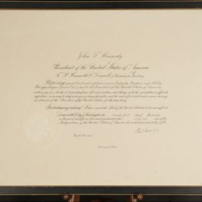 21/01/1961. John F. Kennedy The earliest Presidential autograph of JFK ever to reach the market; He ...