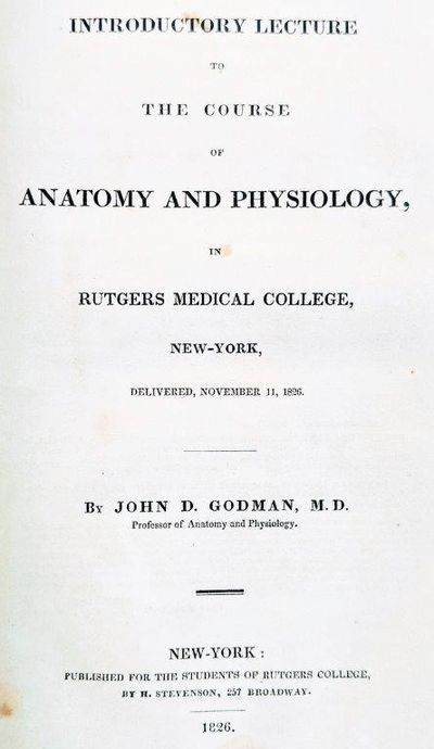Abaa Introductory Lecture To The Course Of Anatomy And Physiology