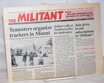 New York: The Militant, 2005. 12p., folded in half tabloid newspaper, a short run of 5 issues. Edge ...