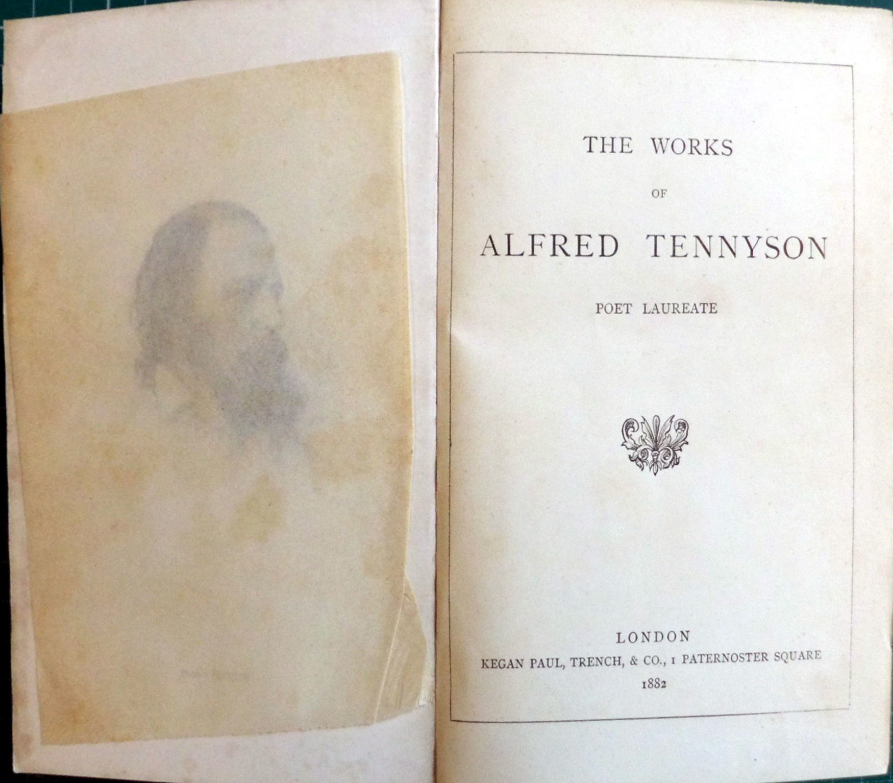 The Works Of Alfred Tennyson Poet Laureate By Alfred Tennyson Hardcover 1882 From Hanselled Books And Bibliocom