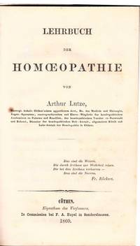Lehrbuch der Homoeopathie