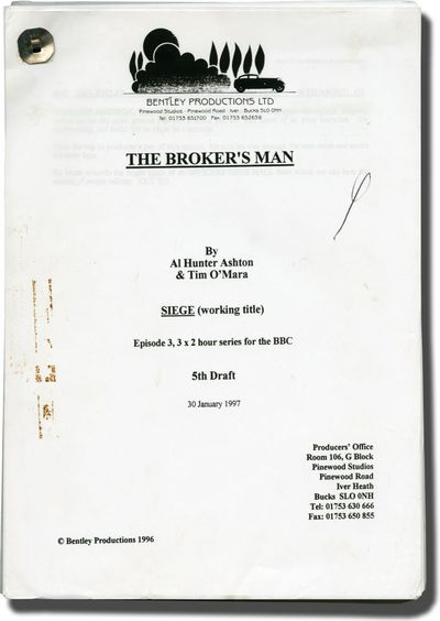 London: Bentley Productions, 1997. 5th Draft script for the 1997 television episode of the show