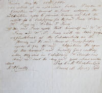 Manuscript Articles of Agreement, Linden (or Lincoln?) May 11th, 1850