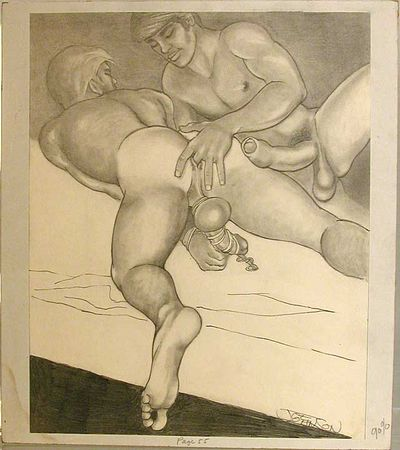 Free Gay Men Anal Sex Drawings 79