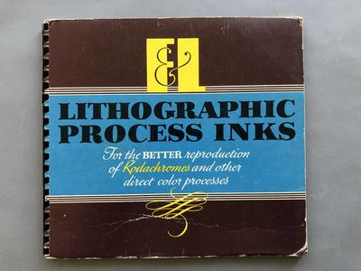 Unnumbered pages, 10 x 10 ½ inches, stiff wrappers with plastic spiral binding, markings in blue in...