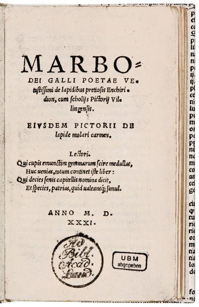 Marbodei Galli Poetae Vetustissimi de...