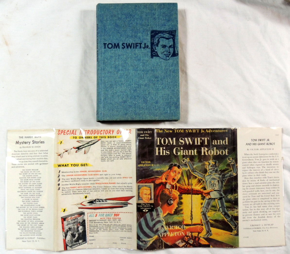 Tom Swift Jr Adventures Tom Swift and his Outpost in Space #6 Appleton II 1955