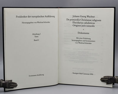 Stuttgart, Bad Cannstatt: Frommann-Holzboog, 1995. First Edition, thus. Hardcover. Very Good/None. S...