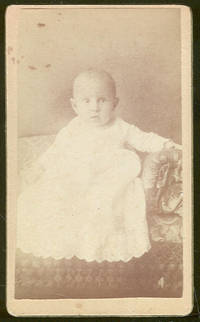 CABINET CARD PHOTOGRAPH OF BABY ON COUCH