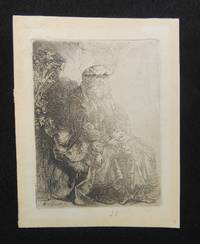 Abraham Caressing (Isaac) Benjamin by  Rembrandt van Rijn - Early restrike - 1700 - from Swan's Fine Books and Biblio.com
