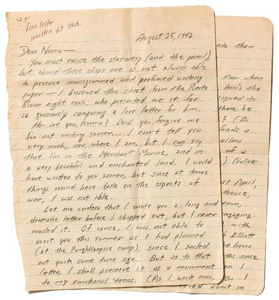 Unbound. Near Fine. An early Autograph Letter Signed from Kerouac to his then-girlfriend, Norma Blic...