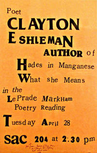 Poetry Reading Announcement Broadside