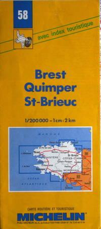 Brest, Quimper, St.-Brieuc: carte routière et touristique