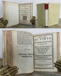 OVIDS FESTIVALLS or ROMANE CALENDAR, BOUND WITH DE PONTO, translated into English verse equinumerally.