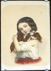 Portrait: Child with King Charles Spaniel.
