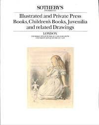 Sale 19/20 June 1986: Illustrated and Private Press Books, Children's  Books, Juvenilia and related Drawings.