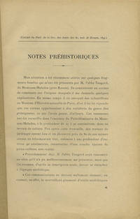 : , 1895. Offprint. Paper wrappers. A very good copy in plain paper wrappers.. 4 pp. 8vo. Extrait du...