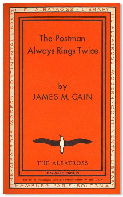 Hamburg, Paris & Bologna: The Albatross Modern Continental Library, 1934. Publisher's bright orange ...