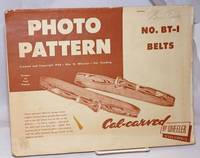 image of Photo Pattern. Created and Copyright 1948 - Pat. Pending. Designs by Fred Raposa. No. BT-1 Belts, Cal-carved by Wheeler of California