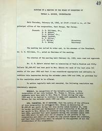 Minutes of a Meeting of the Board of Directors of Thomas A. Edison, Incorporated [ February 16, 1933 ]