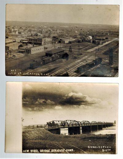 Syracuse, Kansas : W. W. Kidwell,/ Kidwell's Studio Photo , 1916. Two real photo postcards, sent by ...
