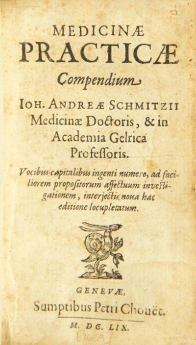 Genevae: sumptibus Petri Chouët, 1659. 24mo, pp. , 250, ; woodcut ornament on title-p., woodcut o...