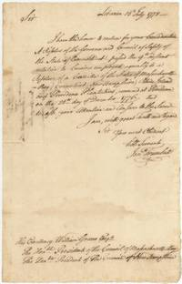 Autograph Circular Letter Signed by Trumbull to the Governors of Rhode Island, Massachusetts, and New Hampshire, about Couriers for Carrying Offical Dispatches, 1778 by  Jonathan TRUMBULL - 1778 - from Between the Covers- Rare Books, Inc. ABAA (SKU: 413484)