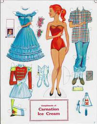 Carnation Ice Cream Paper Doll