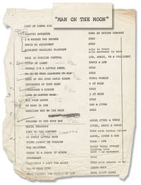 Man on the Moon (Original script for the 1975 stage musical, copy belonging to Monique van Vooren)