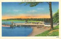 New Pier, Onset, Mass unused linen Postcard