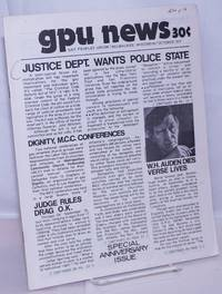 image of GPU News [vol. 3, #1] October 1973: Justice Dept. Wants Police State