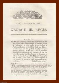 NAVY ACTS, 1797-1861. An interesting selection of 39 original Acts of Parliament