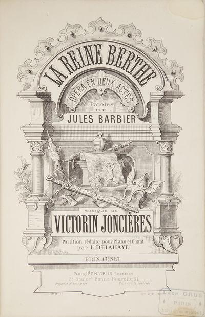 Paris: Léon Grus , 1878. Large octavo. Quarter dark blue calf with marbled boards, spine in gilt-...