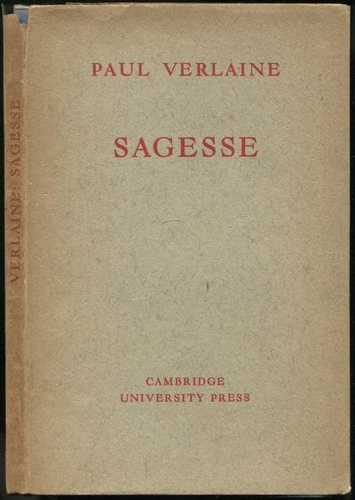Cambridge: at the University Press, 1946. Hardcover. Near Fine/Very Good. 50pp. Poems in French and ...