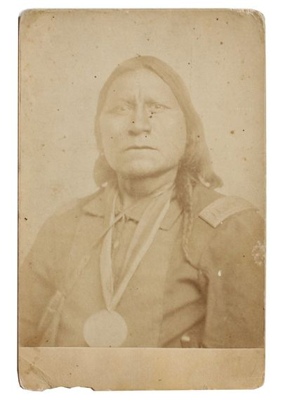 Fort Sill, I.T.: W.S. Soule, . Albumen photograph measuring 5¾