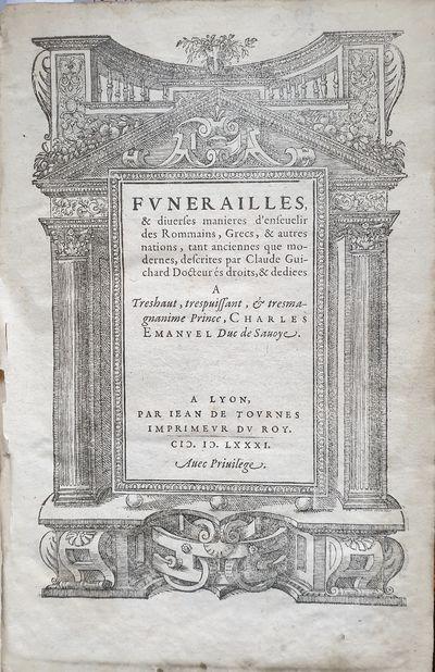 Fvnerailles & Diuerse Manieres...