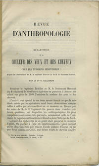 Paris: , 1888. Offprint. Paper wrappers. A very good unopened (uncut) copy, in plain paper wrappers....