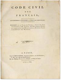 Code Civil des Francais, Entierement Conforme a l'Edition Originale